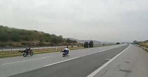 Hatay'da otoyolda motosiklet yarışına para cezası