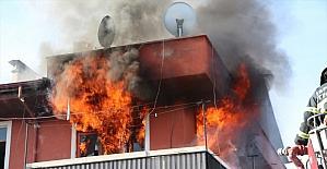 Isparta'da bir evde çıkan yangın hasara neden oldu