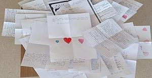 Kahramanmaraş'ta öğrencilerden sağlık çalışanlarına mektuplu teşekkür