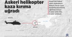 Askeri helikopter kaza kırıma uğradı: 9 şehit