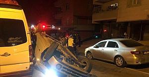 Kahramanmaraş'ta takla atan otomobildeki 2 kişi yaralandı