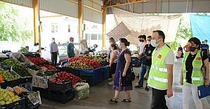 Anamur'da pazar yerleri denetlendi