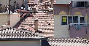 Burdurda apartmanın çatısında...