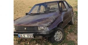 Elbistan'da otomobil tarlaya uçtu: 1 yaralı