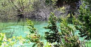 Kahramanmaraş'ta keşfedilen turkuaz göl turizme kazandırılacak