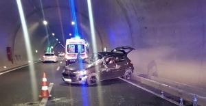 Edebiyat yolunda kaza: 2 yaralı