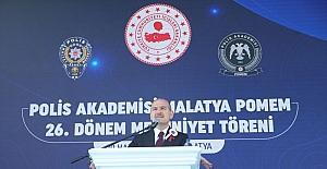 İçişleri Bakanı Soylu, Polis Akademisi Malatya POMEM 26. Dönem Mezuniyet Töreni'nde konuştu: (1)