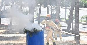 Kahramanmaraş Orman Bölge Müdürlüğü ekipleri yangın söndürme tatbikatı yaptı