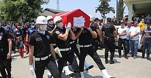 Siirt'te trafik kazası sonucu hayatını kaybeden polis memuru Adana'da toprağa verildi