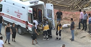 Elbistan'da inşaat işçisi 4. kattan aşağı düştü