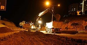 Ağcalı'da Çalışmalar Gece Gündüz Sürüyor