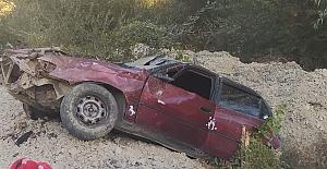 Kahramanmaraş'ta otomobil şarampole uçtu: 1 yaralı
