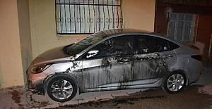 Adana'da otomobilin kundaklandığı iddiası