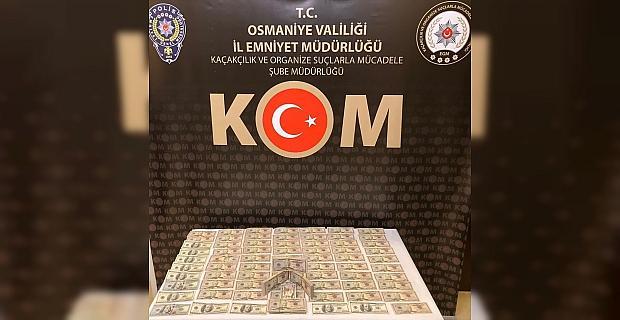 Osmaniye'de sahte para operasyonunda yakalanan yabancı uyruklu 3 zanlı tutuklandı
