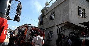 Adana'da evde çıkan yangın hasara sebep oldu