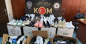 Adana'da gümrük kaçağı 237 çift ayakkabı ele geçirildi