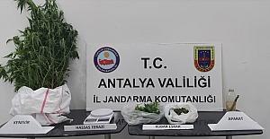 Antalya'da uyuşturucu imalatı ve ticareti yapan zanlı gözaltına alındı