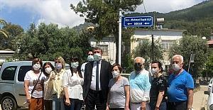 Eski Anamur Belediye Başkanı merhum Mehmet Suphi Alp'in ismi evinin bulunduğu sokağa verildi