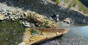 Hatay'da kaçak avlananların nehir ve dereye kurduğu tuzaklar imha edildi