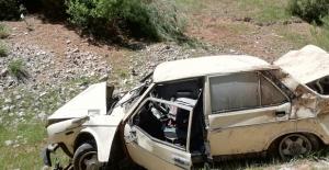 Kahramanmaraş'ta yoldan çıkan otomobil takla attı: 1 yaralı