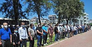 Manavgat ilçesinde İsrail'in Filistin'e yönelik saldırıları protesto edildi