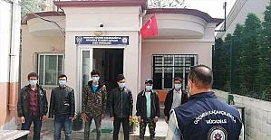 Osmaniye'de yurda yasa dışı yollardan giren 9 Afganistanlı yakalandı
