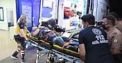 Kahramanmaraş'ta bıçaklı saldırgana müdahale eden polis merdiven boşluğuna düştü