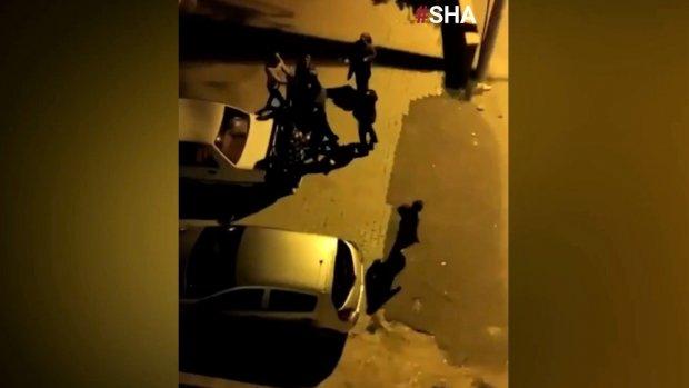 Kahramanmaraş'ta 4 kişinin yaralandığı kavga anı kamerada